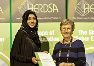 <p>Shazna Buksh receives the inaugural Roger Landbeck Professional Development Fund award</p>